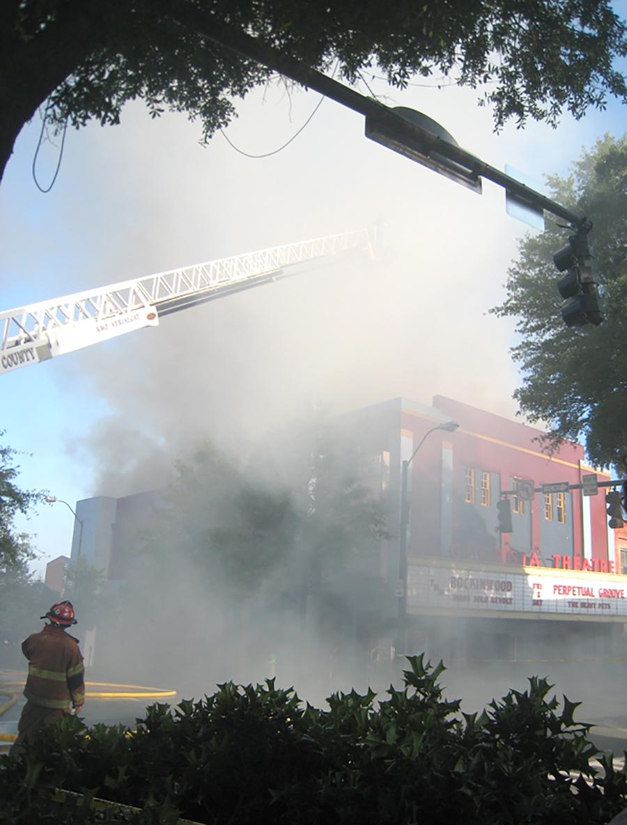 Georgia Theatre burns